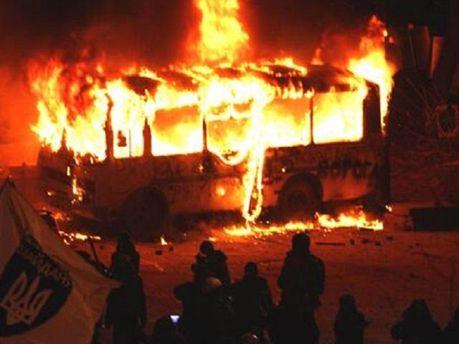 Згорілий автобус