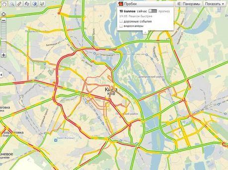 Карта пробок в Киеве