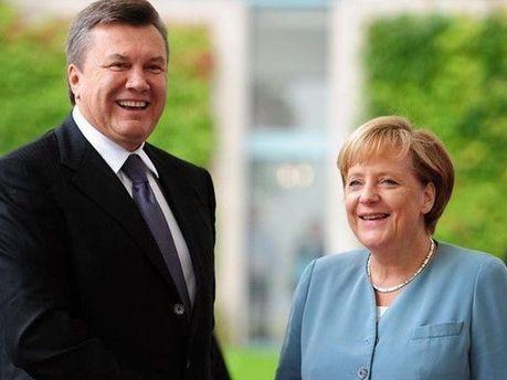 Янукович і Меркель
