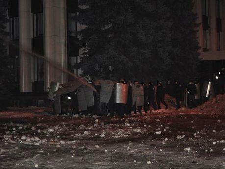Зажим Майдана в Днепропетровске
