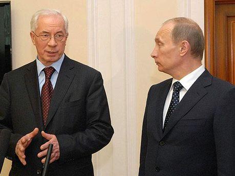 Владимир Путин и Николай Азаров
