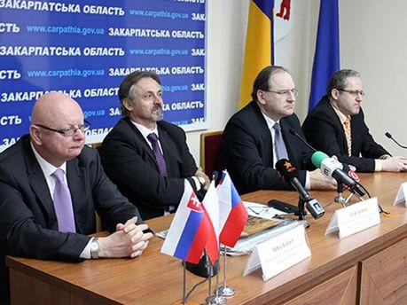 Представители стран Вышеградской четверки
