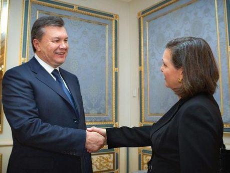 Віктор Янукович і Вікторія Нуланд