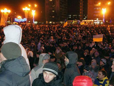 Митинг под Черкасской ОГА