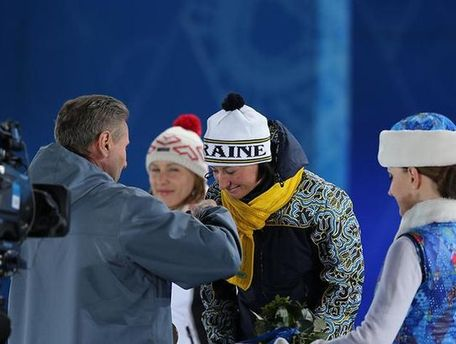 Награждение Виты Семеренко