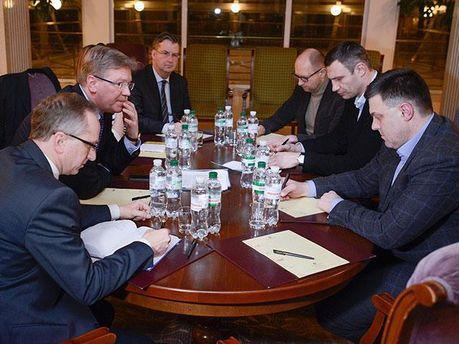 Встреча оппозиционеров с Штефаном Фюле
