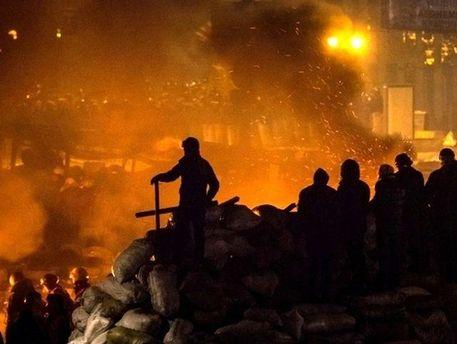 Активісти на вулиці Грушевського