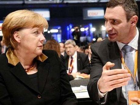 Ангела Меркель і Віталій Кличко