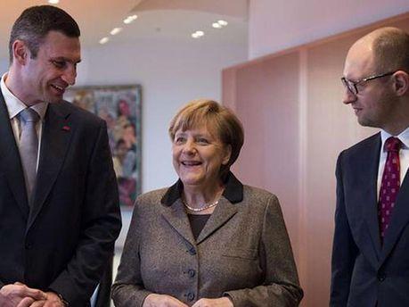 Кличко, Яценюк и Меркель