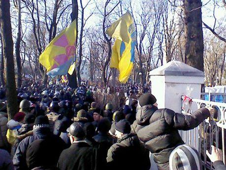 Активисты прорвали оборону на Грушевского