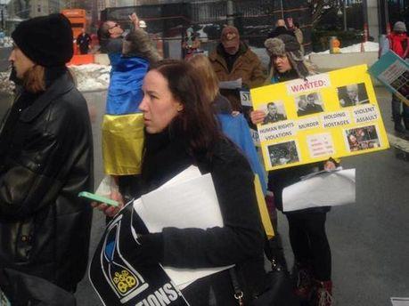 Мітинг під штаб-кваритрою ООН
