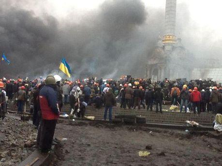 Протестувальники на Майдані