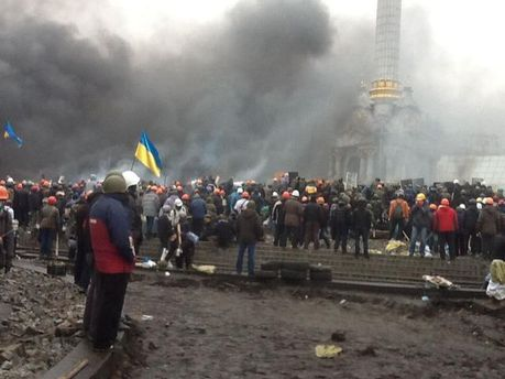 Протестующие на Майдане