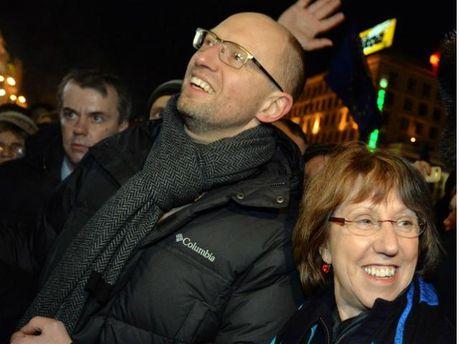 Арсений Яценюк и Кэтрин Эштон