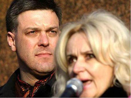 Олег Тягнибок и Ирина Фарион