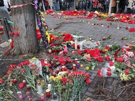 Вшанування пам'яті загиблих на Майдані