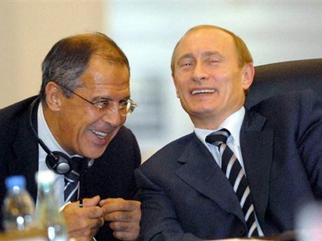 Глава МИД России Сергей Лавров и президент Владимир Путин