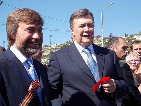 Вадим Новинський та Віктор Янукович