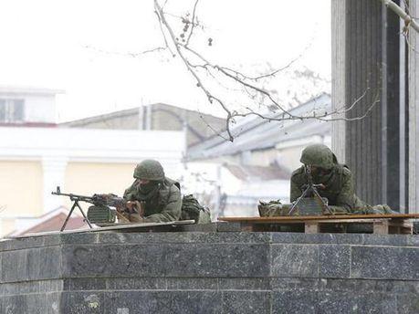 Российские пулеметчики в Крыму