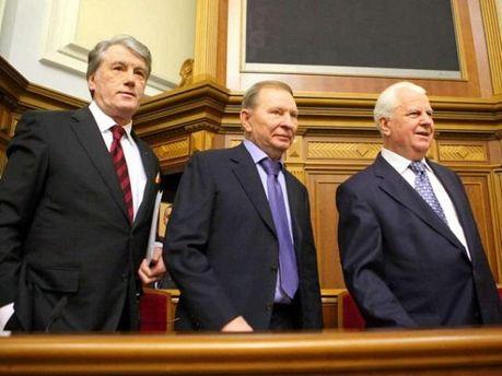Віктор Ющенко, Леонід Кравчук і Леонід Кучма