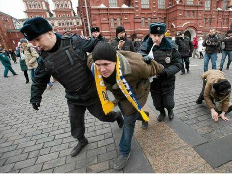 Во время акции протеста в Москве задержали двух украинцев