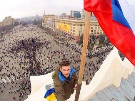 Московский участник акции в Харькове
