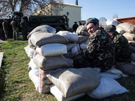 Українські військові в Криму