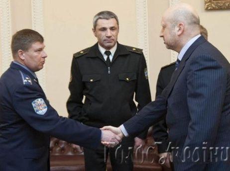 Встреча Турчинова с военными