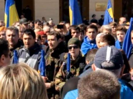 Проукраинский митинг в Одессе