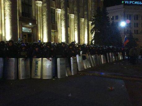 Милиция под Харьковской ОГА