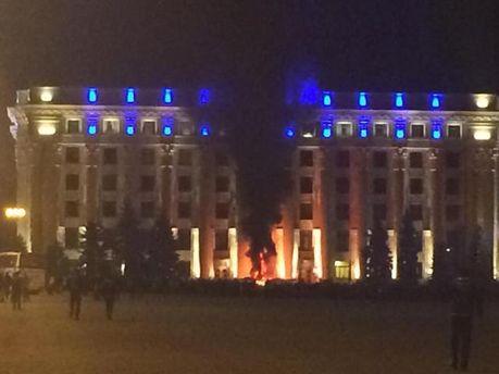 Пожар в Харьковской ОГА