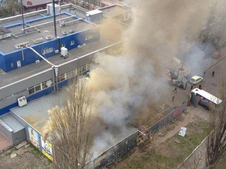 Напівзгорілий супермаркет