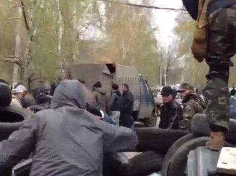 аррикады в Славянске