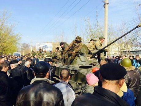 В Краматорск приехала военная техника