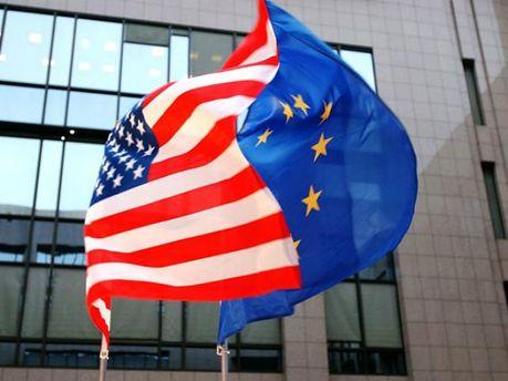 Флаг ЕС и США