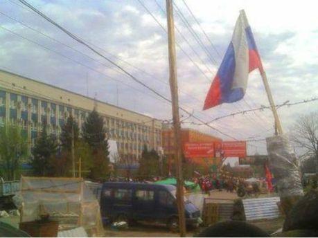Проросійський мітинг у Луганську