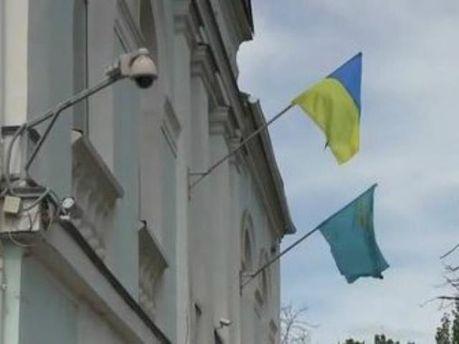 На будівлі Меджлісу знову майорить український прапор