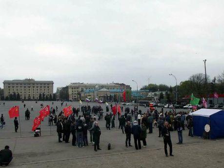 Пророссийский митинг в Харькове