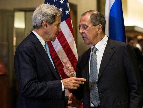 Джон Керри и Сергей Лавров
