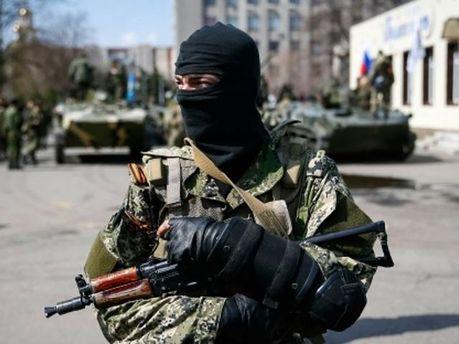 Боевик в Славянске