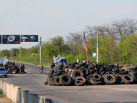 Блокпост на в'їзді у Слов'янськ