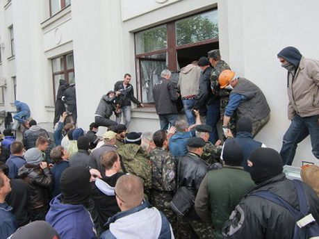 Сепаратисты в Луганске