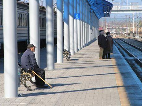 Железнодорожная станция в Славянске
