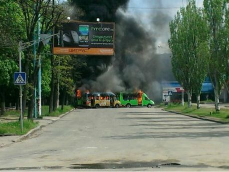У Краматорську сепаратисти підпалили тролейбуси
