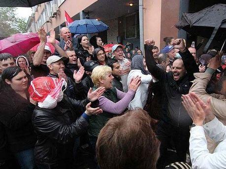 Протестующие под УМВД в Одессе
