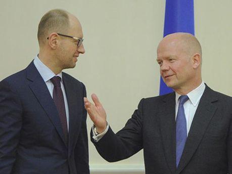 Арсеній Яценюк і Вільям Хейґ