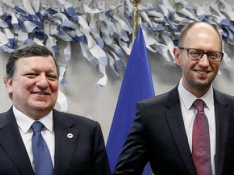 Жозе Мануель Баррозу та Арсеній Яценюк