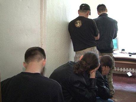 Задержанные молодчики в Харькове