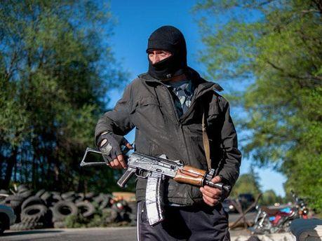 Боевик в Луганске