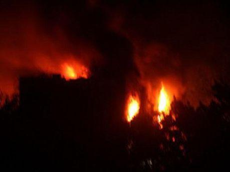 Пожежа в міськраді Маріуполя